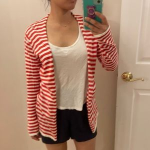 Melrose Chic striped open cardigan